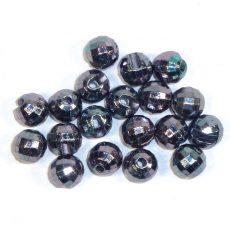 Facettierte Perlen aus Tungsten - altsilber