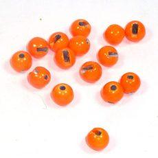 Geschlitzte Perlen aus Tungsten - orange