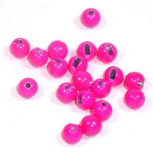 Geschlitzte Perlen aus Tungsten - pink