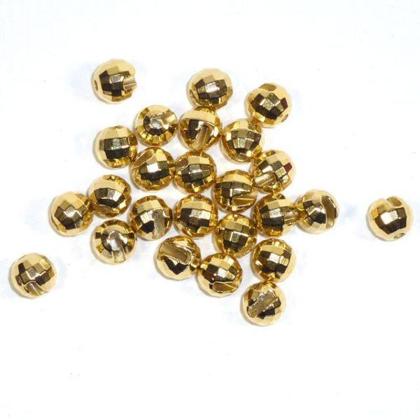 Facettierte Perlen aus Tungsten - gold