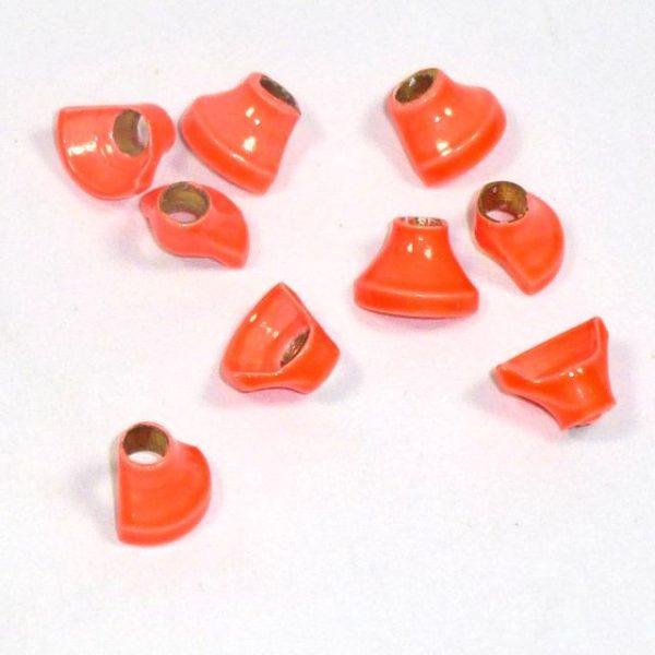 Halbe Turbos Messing - orange