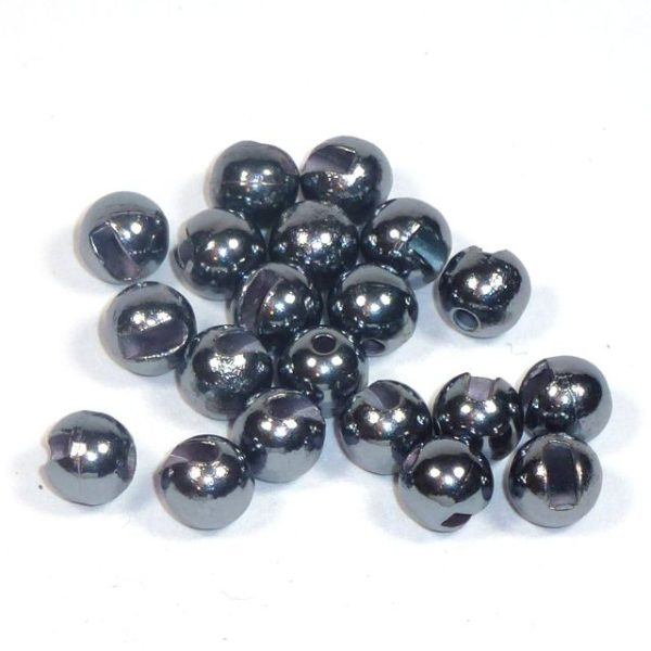 Geschlitzte Perlen aus Tungsten 8,0 mm - altsilber